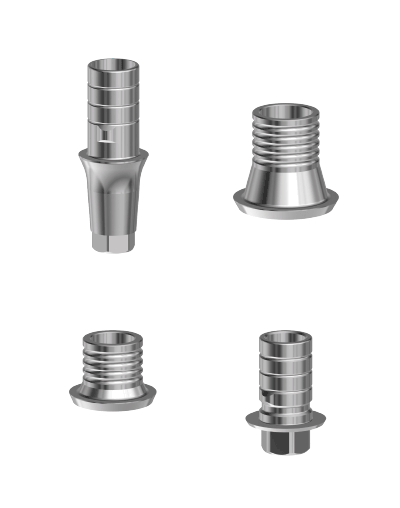 Titanium base for In-Kone® dental implants