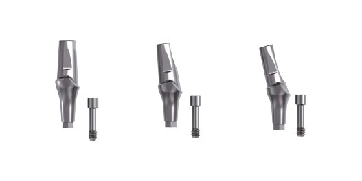 Profiled abutments and healing screws for In-Kone® dental implants