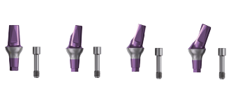 Standard abutments and healing screws for In-Kone® dental implants