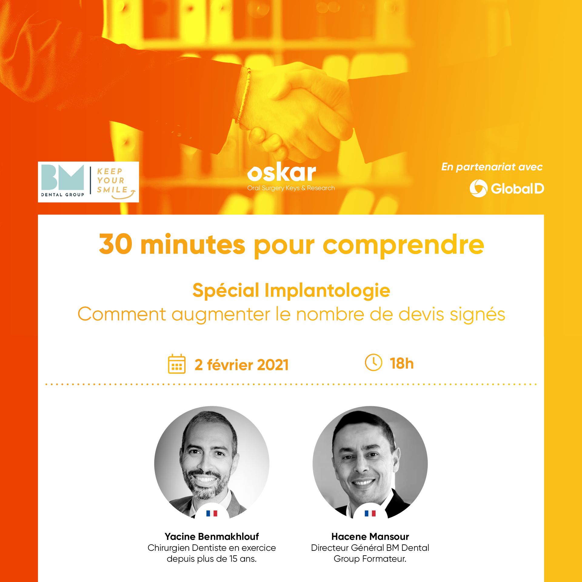 """Webinar """"30 minutes pour comprendre"""" - Spécial Implantologie"""